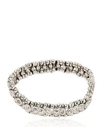 Philippe Audibert - Metallic Mini Mick Rhinestone Bracelet - Lyst