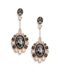 Swarovski | Pink Venetie Crystal Drop Earrings | Lyst