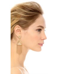 Rachel Zoe - Metallic Tassel Earrings - Lyst