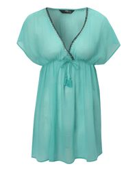Jane Norman | Green Beaded Trim Kaftan | Lyst