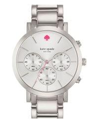 kate spade new york - Metallic 'gramercy Grand' Chronograph Bracelet Watch - Lyst