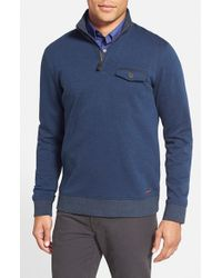 Ted Baker - Blue 'newbevy' Quarter Zip Sweatshirt for Men - Lyst