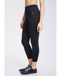 Forever 21 - Black Active Seamless Athletic Capri Leggings - Lyst