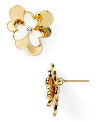 Kate Spade | Metallic Pansy Blossoms Stud Earrings | Lyst