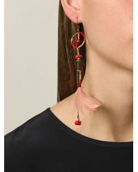 Etro - Red Embellished Boho Earrings - Lyst