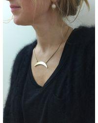 Jenny Bird - Metallic Crescent Moon Necklace - Lyst