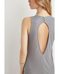 Forever 21 - Gray Ribbed Maxi Dress - Lyst