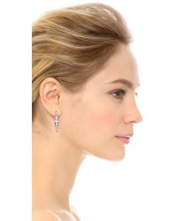 Lulu Frost - Metallic Datura Stud Earrings - Clear - Lyst
