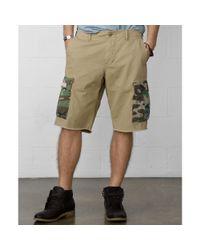Denim & Supply Ralph Lauren | Natural Cutoff Military Camo Cargo Shorts for Men | Lyst