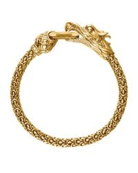 John Hardy | Metallic Gold Naga Dragon O-ring Bracelet | Lyst
