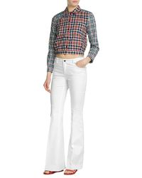 Victoria Beckham - Cropped Cotton Shirt - Multicolor - Lyst