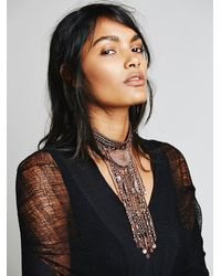 Free People - Pink Womens Exaggerated Fringe Collar - Lyst