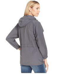 Eileen Fisher - Gray Waterproof Hooded Anorak Jacket - Lyst
