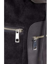 TOPSHOP - Black Real Leather Vintage Backpack - Lyst
