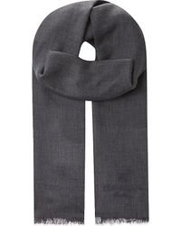 Corneliani | Gray Twill Cashmere & Cotton Scarf for Men | Lyst
