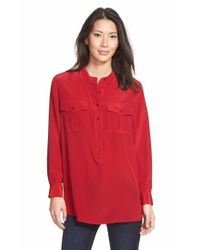 Two By Vince Camuto | Red Print Utility Shirt | Lyst