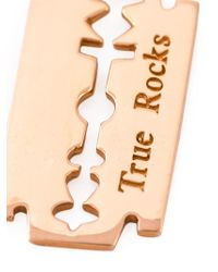 True Rocks - Pink 'razor Blade' Necklace for Men - Lyst