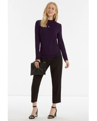 Oasis | Purple Gathered Turtle Neck | Lyst