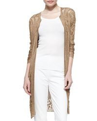 Ralph Lauren Black Label - Metallic Hand-Crocheted Duster Jacket - Lyst