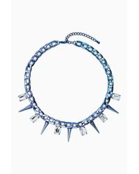 Nasty Gal - Blue Ice Cold Necklace - Lyst