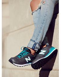 Free People | Blue New Balance Womens Metal Trainer | Lyst