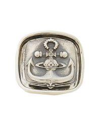Vivienne Westwood - Metallic Aristotle Ring for Men - Lyst