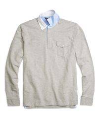 Brooks Brothers | Gray Cotton And Linen Rugby for Men | Lyst