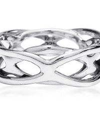 Aeravida - Metallic Intertwining Open Waves Band Sterling Silver Ring - Lyst