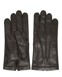 Mario Portolano - Brown Handmade Nappa Leather Gloves - Lyst