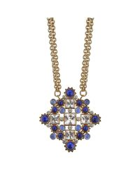 Asha | Orange Phillipa Pendant Necklace, Blue | Lyst