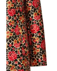 Etro Red Floral Brocade Topper