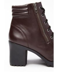 Forever 21 - Purple Faux Leather Combat Boots - Lyst
