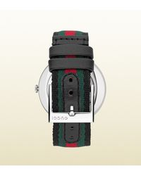Gucci - Green U-play Collection Medium Signature Web Watch - Lyst
