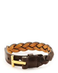 Tom Ford | Brown Nashville Men's Braided Leather Bracelet for Men | Lyst