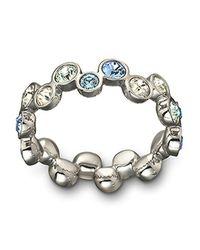 Swarovski | Fidelity Blue Crystal Ring | Lyst