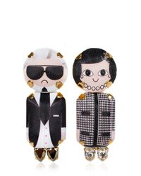 Bijoux De Famille - Black Coco & Karl Pendent Earrings - Lyst