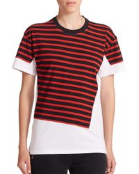 Marc By Marc Jacobs - Red Stripe-patch Surplus Tee - Lyst