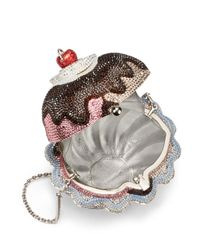 Judith Leiber - Metallic Hot Fudge Ice Cream Sundae Crystal Minaudiere - Lyst