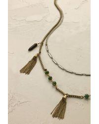 Anthropologie - Metallic Deva Tasselled Necklace - Lyst