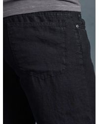 John Varvatos | Black Linen Authentic Jean for Men | Lyst