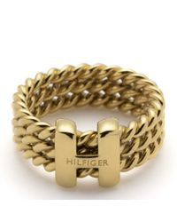 Tommy Hilfiger | Metallic Rope Ring | Lyst