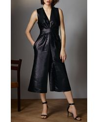 Vilshenko - Black Bibi Culottes Jumpsuit - Lyst