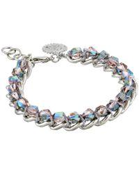 Jessica Simpson | Metallic Hippie Bling Stone Linear Bracelet | Lyst