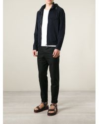 Giorgio Armani - Blue Zip Front Jacket for Men - Lyst