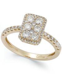 Le Vian | Metallic Diamond Rectangle Ring In 14K Gold (7/8 Ct. T.W.) | Lyst