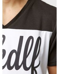 TOPMAN - Black Thfkdlf V Neck T-shirt* for Men - Lyst
