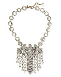 Banana Republic | Metallic Sparkle Trumpet Necklace | Lyst