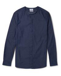 Façonnable | Blue Denim Henley Shirt for Men | Lyst