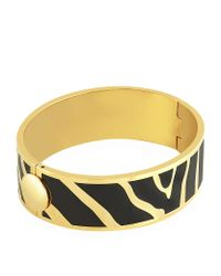 Halcyon Days | Metallic Gold Zebra Hinged Bangle | Lyst
