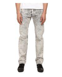 Versace Jeans Black Acid Washed Slim Denim for men